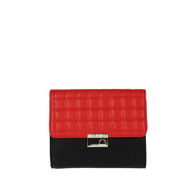 6e600e7c6f Bielo-čierna elegantná kabelka PABIA 2571 - Adba Raj pre ženy